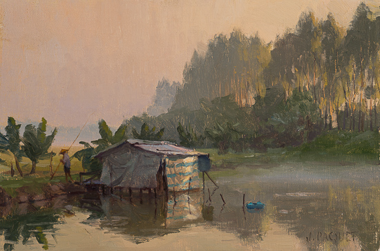 Fish-Pond-Early-Light-8x12