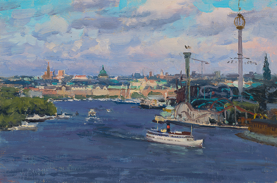Windy Day_ Stockholm 8_ x 12_ _ Oil on Mounted Linen _ _3_400